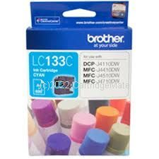 Brother LC-133C Cyan Inkjet Cartridge - Original Product