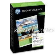 Hewlett Packard CG898AA - CE940XL Value Pack (CMY + paper) - Original Product